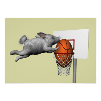 Easter Bunny's Perfect Slam Dunk Photo Art