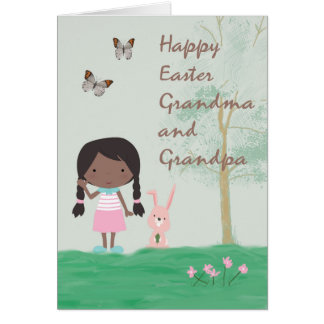 Easter Card for Grandma & Grandpa from Girl