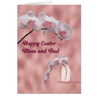 Easter Card for Mum & Dad Orchid Design