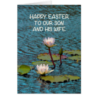 Easter Card for Sun and his Wife Water Lilies