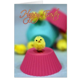 Easter Card Fuzzy Chick