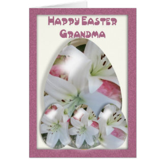 Easter Card Grandma, will lillie Easter Eggs