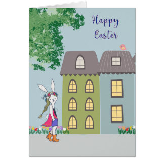 Easter Card with Bohemian Bunny