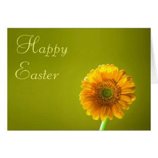 Easter Card - Yellow Daisy Gerbera Flower