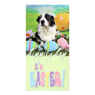 Easter - Cardigan Corgi - Teddy Customized Photo Card