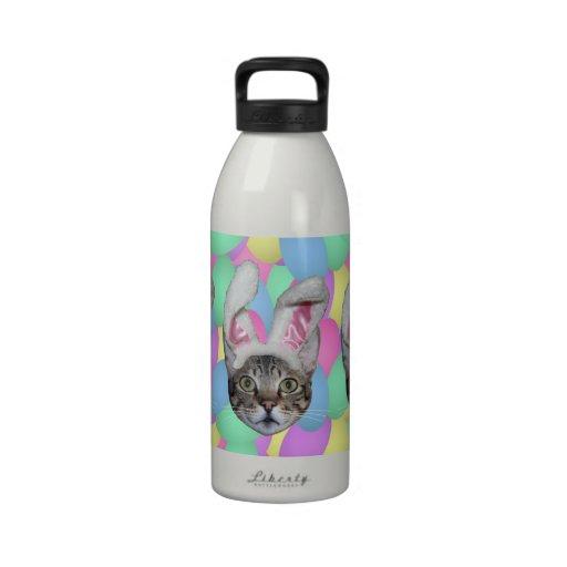 Easter Cat Bunny Ears Drinking Bottles