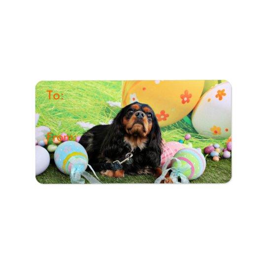 Easter - Cavalier King Charles Spaniel - Charlie Label
