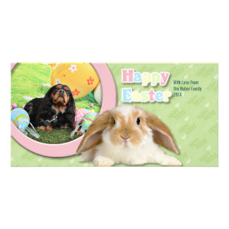 Easter - Cavalier King Charles Spaniel - Charlie Photo Card