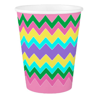 Easter Chevron Paper Cup