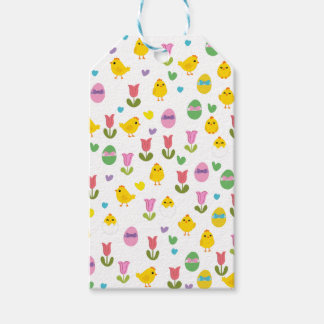 Easter - chick and tulips gift tags