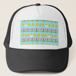 Easter - chick and tulips trucker hat