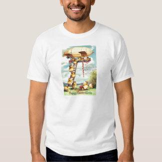 Easter Chick Blimp Zeppelin Flower Shirt