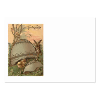 Easter Chick Bunny Colored Decorated Egg Pack Of Chubby Business Cards