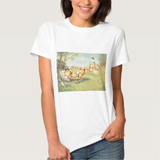 Easter Chick Butterfly Farmyard Tshirts