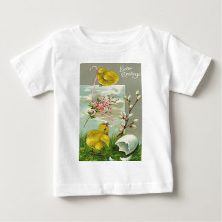 Easter Chick Cotton Pink Daisy T Shirt