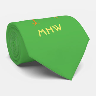 Easter Chick custom monogram tie