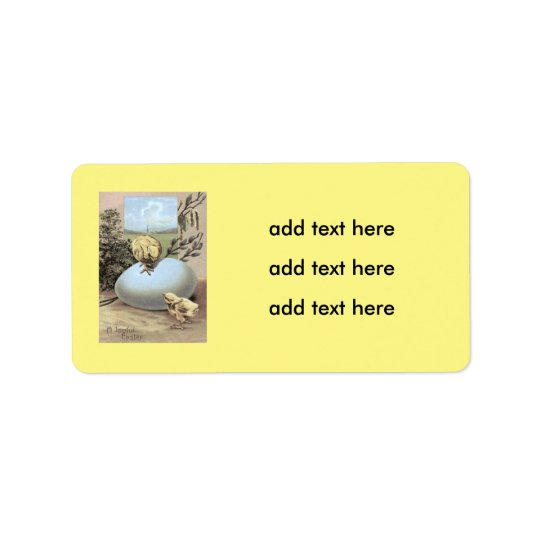 Easter Chick Egg Cotton Address Label