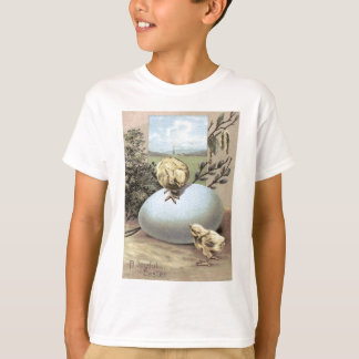 Easter Chick Egg Cotton T-shirts