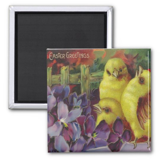 Easter Chick Greetings Magnet