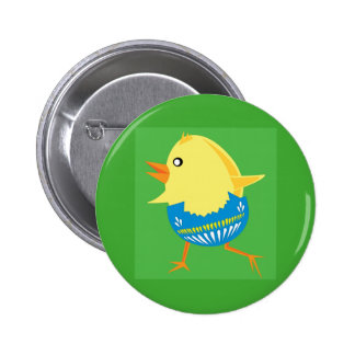 Easter Chick Hatching and Walking 6 Cm Round Badge