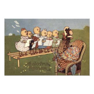 Easter Chick Hen Choir Photo Print