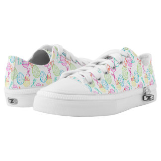 Easter chicken bunny sketchy illustration pattern low tops