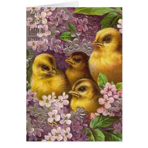 Easter Chicks Greeting Cards