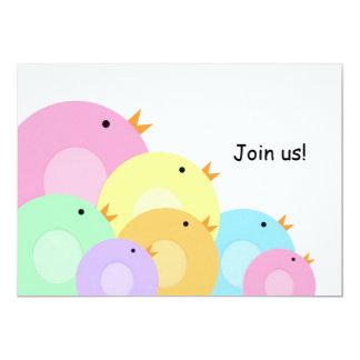 "Easter Chicks Egg Hunt Invitation 5"" X 7"" Invitation Card"
