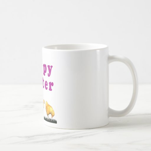 Easter Chicks in Grass Coffee Mugs