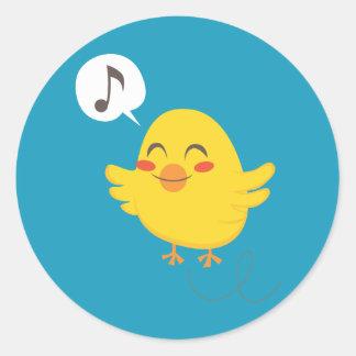 Easter Chicks Round Sticker