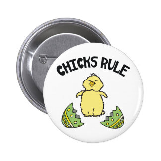 Easter Chicks Rule 6 Cm Round Badge