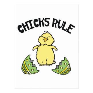 Easter Chicks Rule Postcard