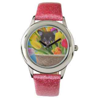 Easter Chihuahua dog Wristwatches