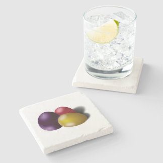 Easter Coaster Metallic Eggs Home Decor Accessory Stone Beverage Coaster