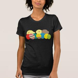 Easter Cool Black Cartoon Chicks Eggs Cute Funny T-Shirt