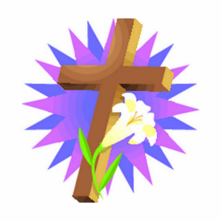 easter cross and lily design photo cutouts