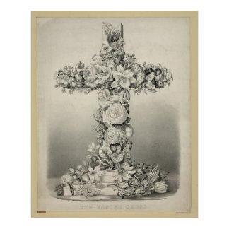 Easter Cross Be-an Angel and Love Jesus Poster