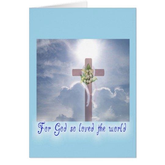 Easter Cross God's Promise Card