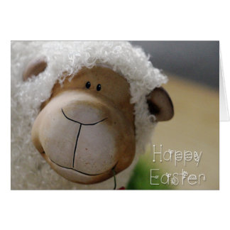 "Easter - Cute Sheep ""Happy Easter"" All Sizes Card"
