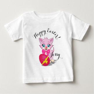 Easter Cutie Pink Kitten Cartoon Baby T-Shirt