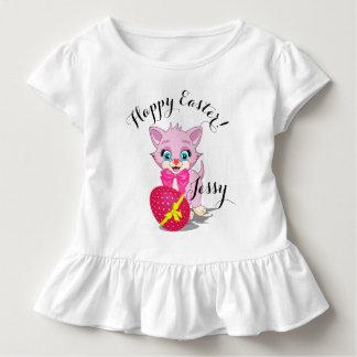 Easter Cutie Pink Kitten Cartoon Toddler T-Shirt