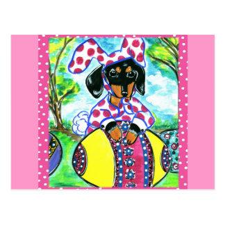 Easter Dachshund Postcard