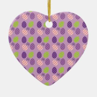 Easter Ceramic Heart Ornament