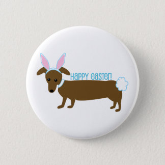 Easter Doggie 6 Cm Round Badge