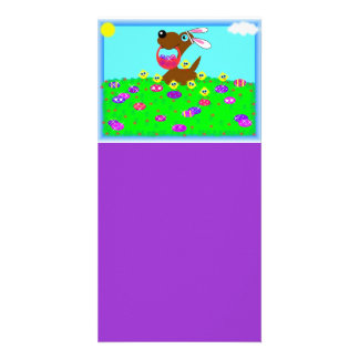 Easter Doggy Designed Book Mark Photo Card