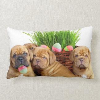 Easter Dogue de Bordeaux pups Pillow