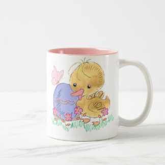 Easter Duckling With Butterfly & Egg Collector Mug
