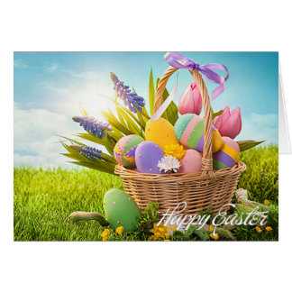 """Easter - """"Easter Basket"""" - Customize Greeting Card"""