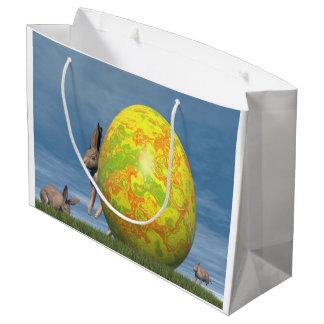 Easter egg - 3D render Large Gift Bag