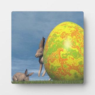 Easter egg - 3D render Plaque
